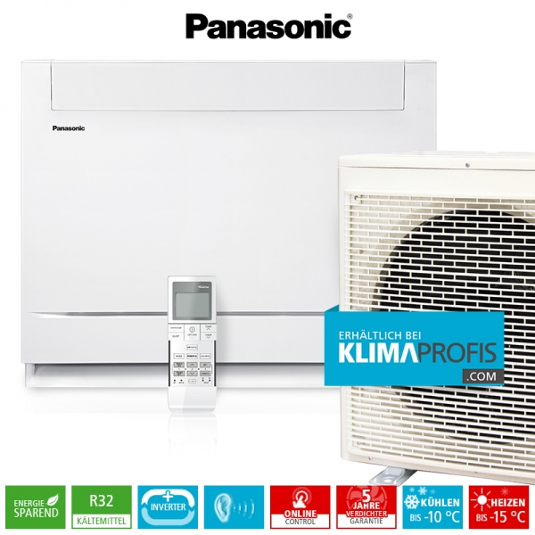 Panasonic Mini-Standtruhe CS-Z50UFEAW R32 Inverter Plus Klimageräte-Set - 5,7 kW