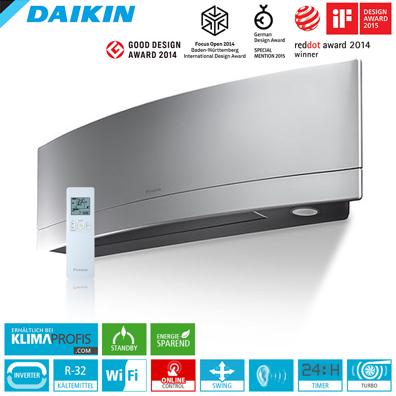 daikin emura ftxj35ms r32 wifi 3 5 kw multisplit wandklimager t daikin hersteller. Black Bedroom Furniture Sets. Home Design Ideas