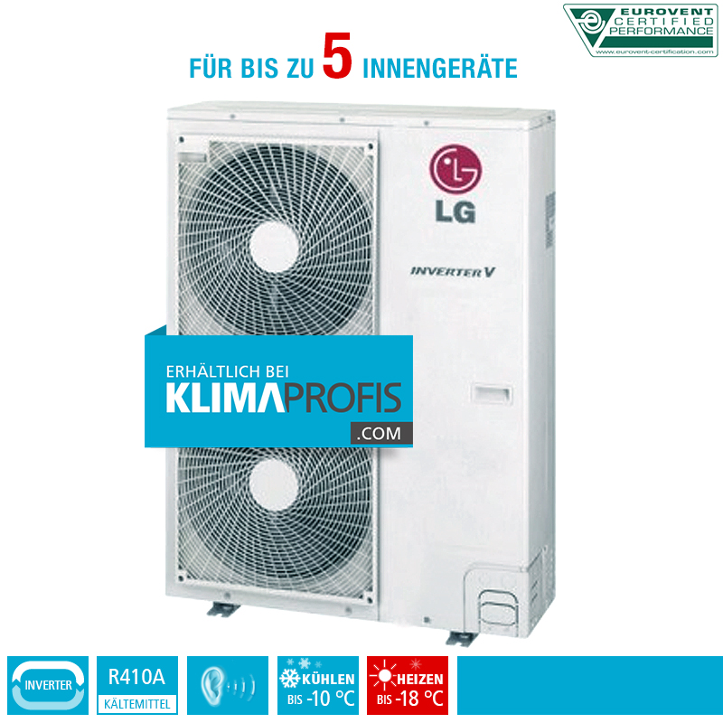 lg multi split inverter v au eneinheit mu5m40 13 5 kw f r 5 innenger te klimaprofis. Black Bedroom Furniture Sets. Home Design Ideas