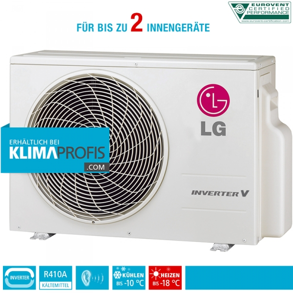 lg multi split inverter v au eneinheit mu2m17 5 4 kw f r 2 innenger te klimaprofis. Black Bedroom Furniture Sets. Home Design Ideas
