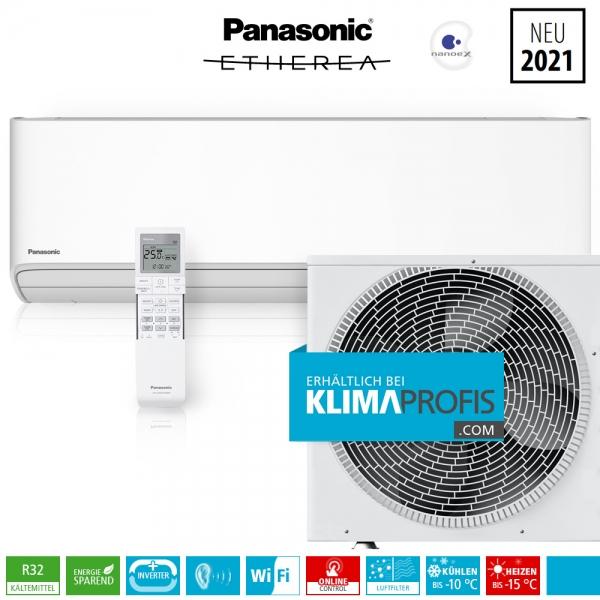 Panasonic Etherea CS-Z25XKEW WiFi R32 Inverter Plus Klimageräte-Set - 3,5 kW