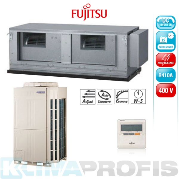 Fujitsu ARYC 90 LHT Zwischendecken- Klimageräte Set, 400V - 28,0 kW