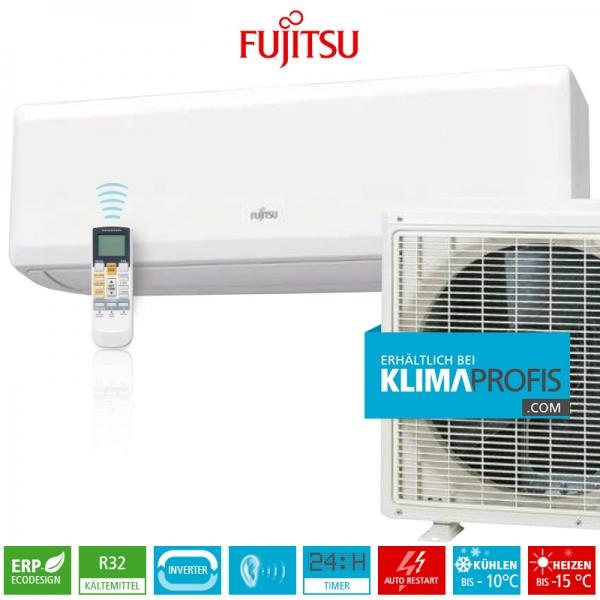 Fujitsu Basic R32 Wandklimageräte Set - 09KPCA - 3 kW