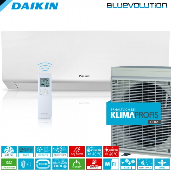 Daikin Perfera FTXM35R R32 WiFi Inverter Wand-Klimageräte-Set 4 kW