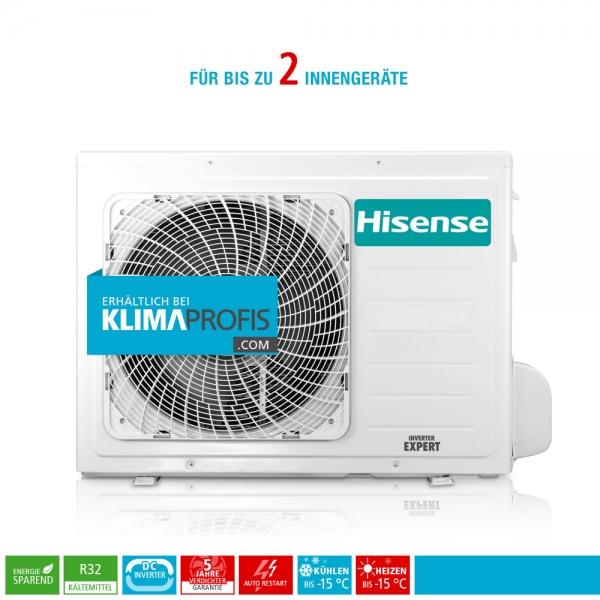 Hisense FreeMatch 2AMW50U4RXA R32 Multisplit Inverter Außengerät 6,6 kW für 2 Innengeräte