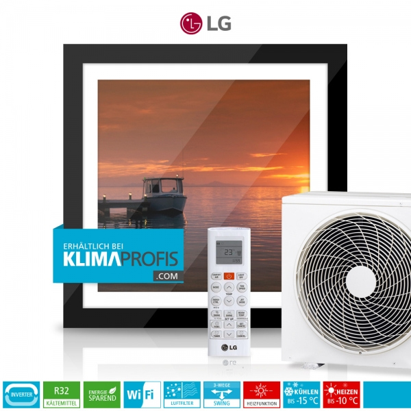 LG ARTCOOL Gallery A12FT Dual Inverter Compressor R32 - Wandklimageräte Set - 4 kW
