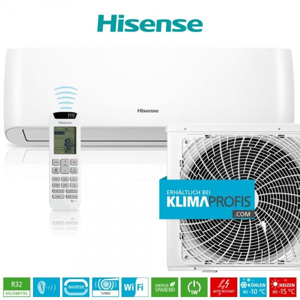 Hisense Energy Pro QE35XV0AG R32 WiFi Inverter Wandklimagerät-Set - 4,4 kW