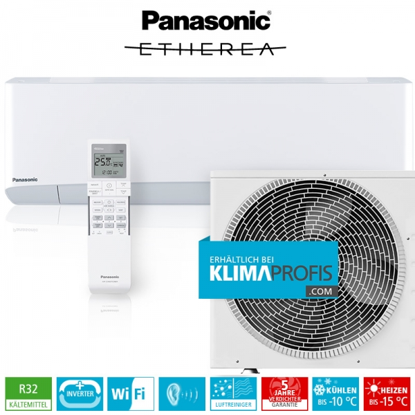 Panasonic Etherea CS-Z25TKEW R32 Inverter Plus Klimageräte-Set - 3,2 kW