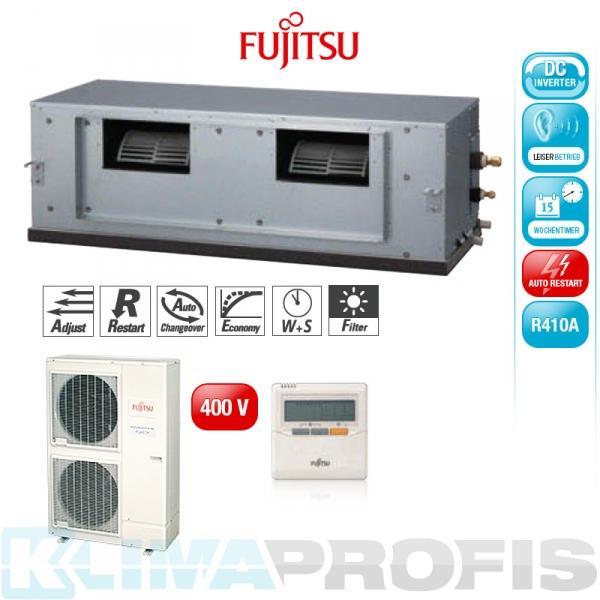 Fujitsu ARYG 60 LHT Zwischendecken- Klimageräte Set, 400V - 17,5 kW