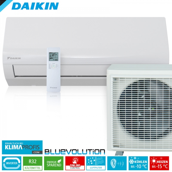 Daikin Sensira FTXF60A WiFi R32 Inverter Wand-Klimageräte-Set 7 kW
