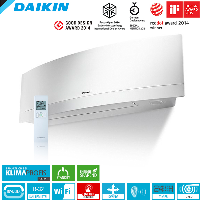 daikin emura ftxj35mw r32 wifi 3 5 kw multisplit. Black Bedroom Furniture Sets. Home Design Ideas