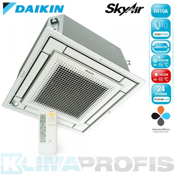 Daikin FFQ25C Sky Air Multisplit Deckenkassette - 2,5 kW inkl. Blende und FB
