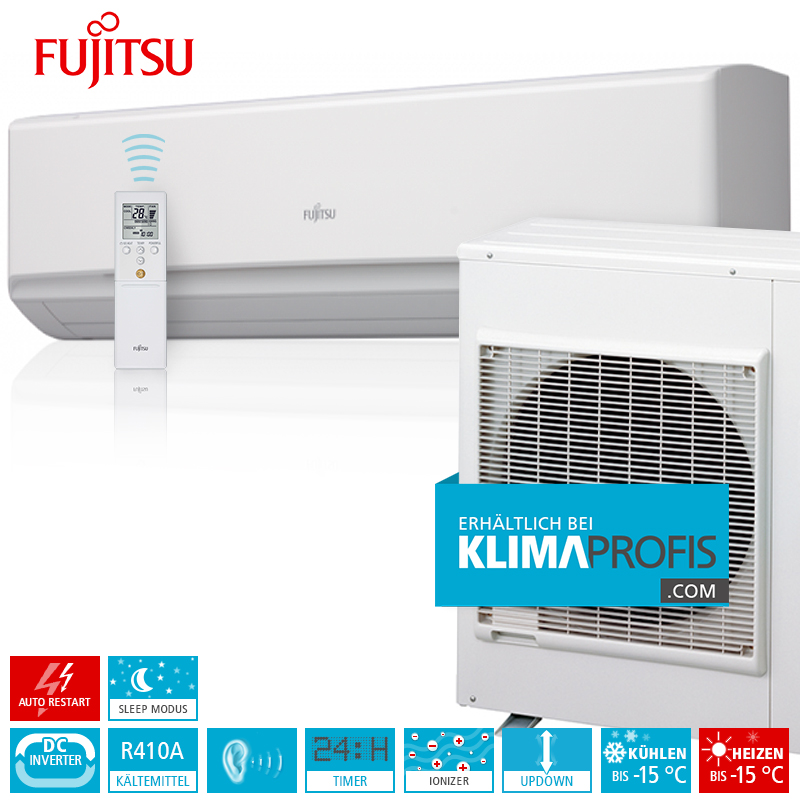 fujitsu klimaanlage zur wandmontage standard inverter set asyg30lmta 9 kw klimaprofis. Black Bedroom Furniture Sets. Home Design Ideas
