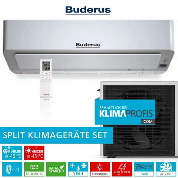 Buderus Logacool AC186i R32 Optimal Inverter Klimageräte-Set - 2,5 kW
