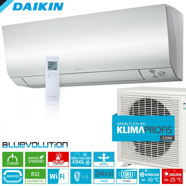 Daikin Perfera FTXTM30M ColdRegion WiFi Inverter Wand-Klimageräte-Set 3,0 kW
