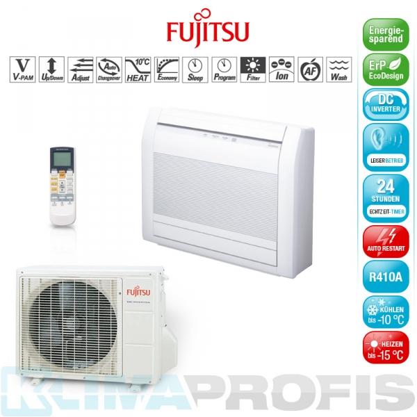 Fujitsu AGYG12LVC Inverter Standklimageräte Set - 4,0 kW
