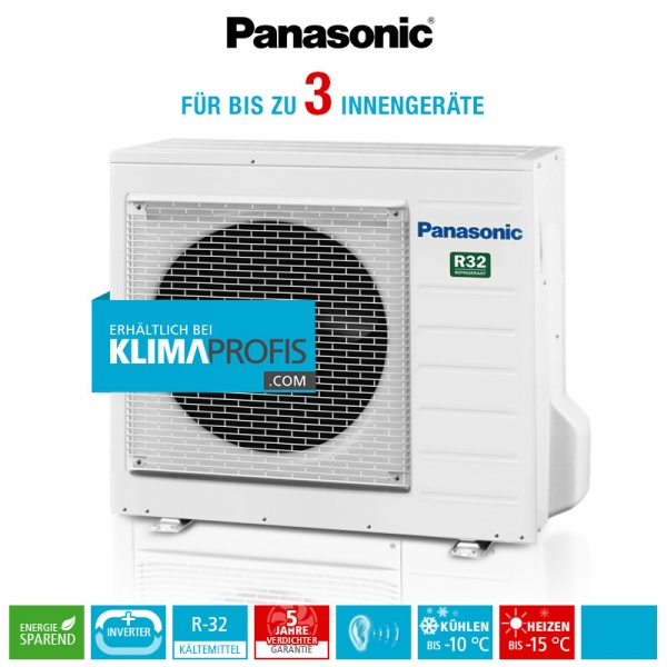 Panasonic CU-3Z52TBE R32 Multi-Split Inverter Plus Außengerät - 7,3 kW