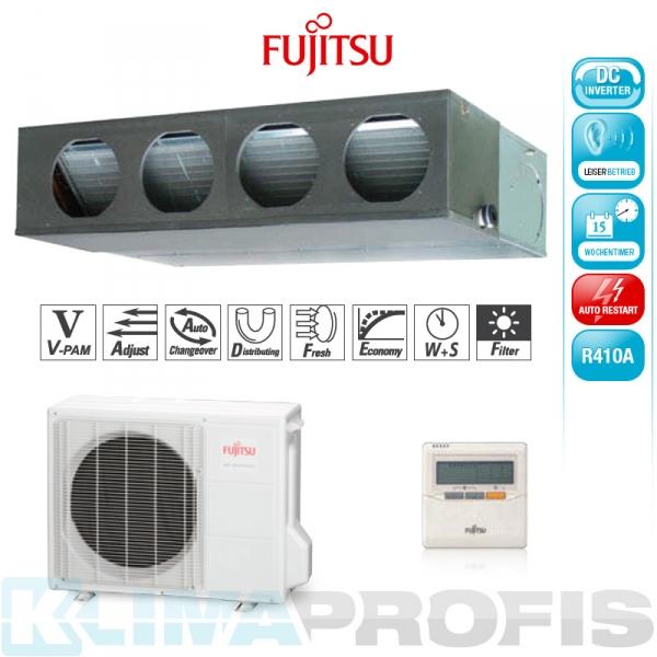 Fujitsu ARYG 45 LML Zwischendecken- Klimageräte Set - 13,3 kW