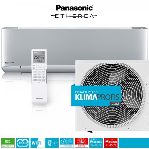 Panasonic Etherea CS-XZ20VKEW WiFi R32 Inverter Plus Klimageräte-Set - 2,4 kW