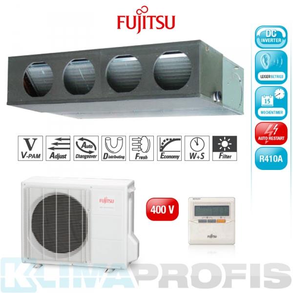 Fujitsu ARYG 36 LML Zwischendecken- Klimageräte Set, 400V - 11,4 kW