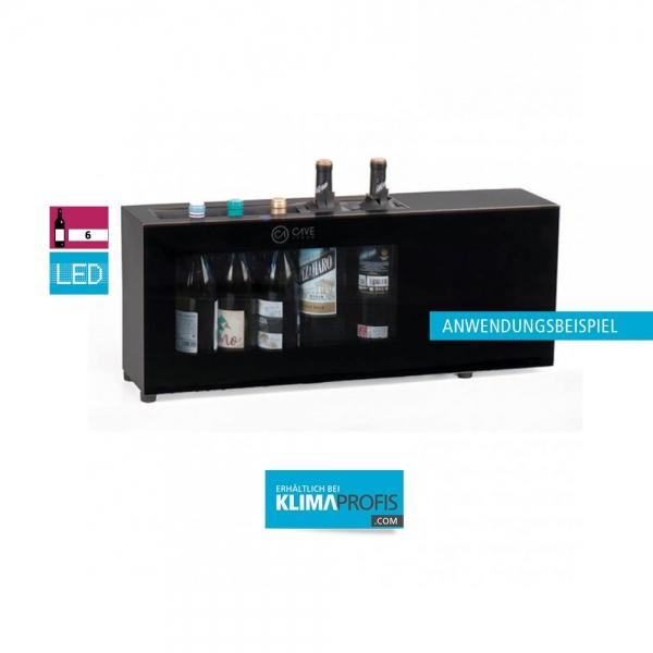 Weinflaschenkühler CV7T, 1 Temperaturzone, 6 Flaschen, Schwarz