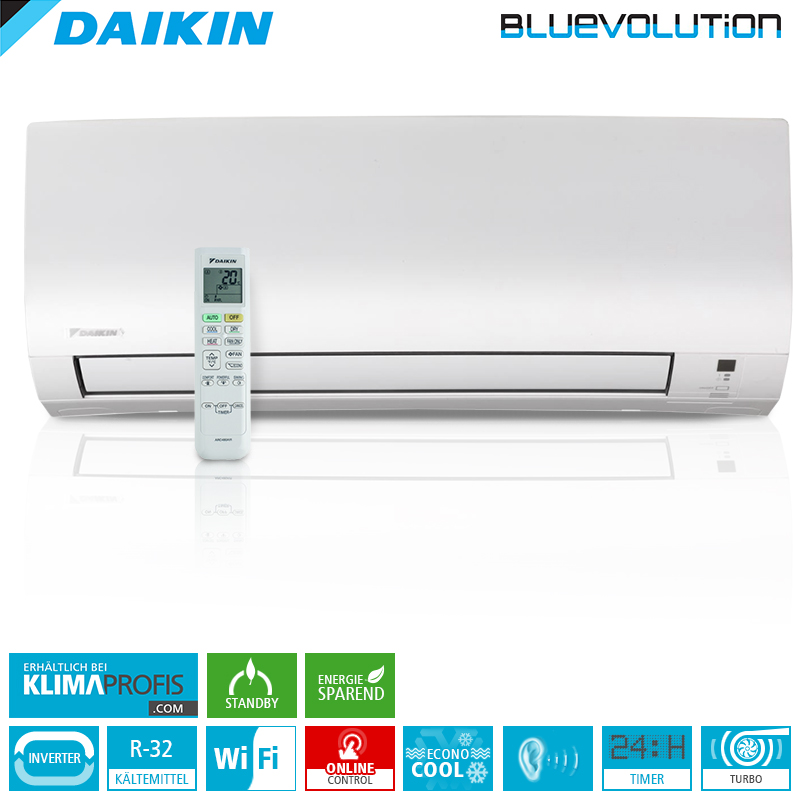 daikin ftxp20kv r32 wifi 2 kw multisplit wandklimager t daikin hersteller klimaprofis. Black Bedroom Furniture Sets. Home Design Ideas