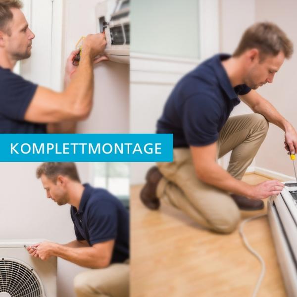 Montageservice einer Klimaanlage mit einer Inneneinheit