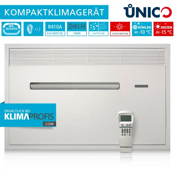 Unterputz-Klimagerät Unico Air Inverter 8 HP Wand-Truhenklimagerät - 2,3 kW, Kühlen und Heizen