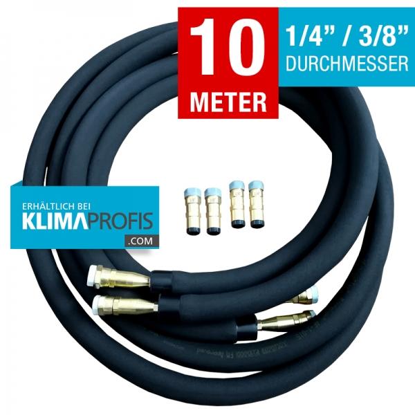 Kältemittelleitung mit Schnellkupplung, Quick-Connect hochflexibel, 6/10mm, 10 Meter