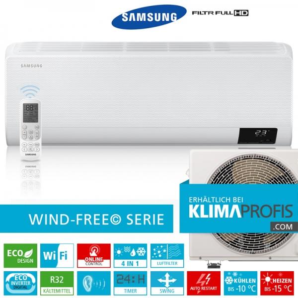 Samsung Wind-Free Elite AR 12 R32 Eco Digital Inverter Wandklimageräte Set - 4,8 kW
