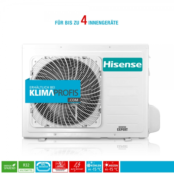 Hisense FreeMatch 4AMW81U4RAA R32 Multisplit Inverter Außengerät 11,5 kW für 4 Innengeräte