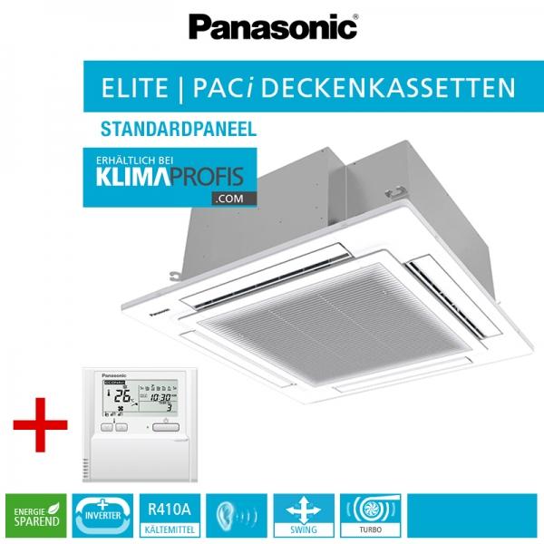 Panasonic S-140PU2E5A 4-Wege-Deckenkassette PACi Elite - 14 kW inkl. Blende CZ-KPU3