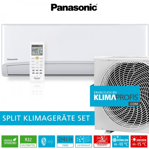 Panasonic CS-TZ12SKEW R32 Standard Inverter Plus Klimageräte-Set - 3,9 kW