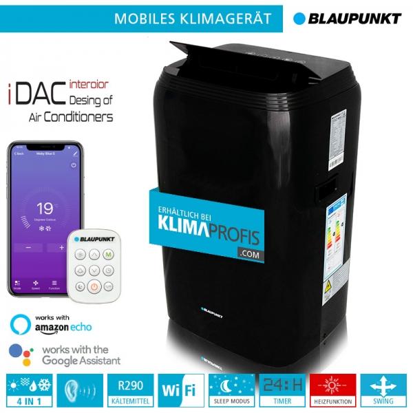 Mobiles Klimagerät Blaupunkt Moby Blue S 1111TB WiFi - 3,2 kW, schwarz