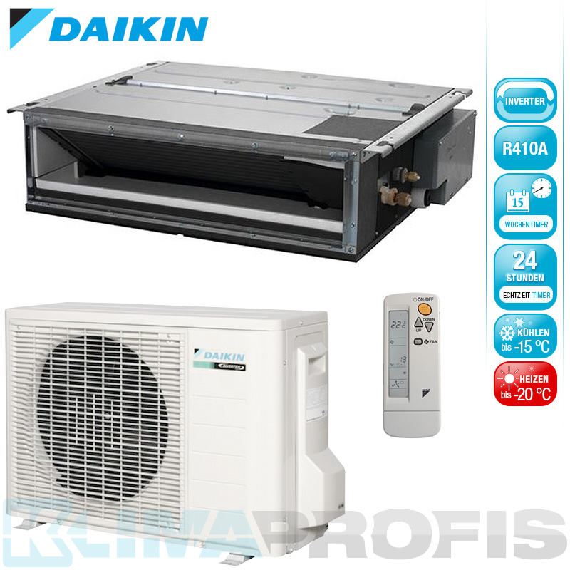 daikin fdxs25f professional inverter deckeneinbauger te set 3 kw deckenklimager te split. Black Bedroom Furniture Sets. Home Design Ideas