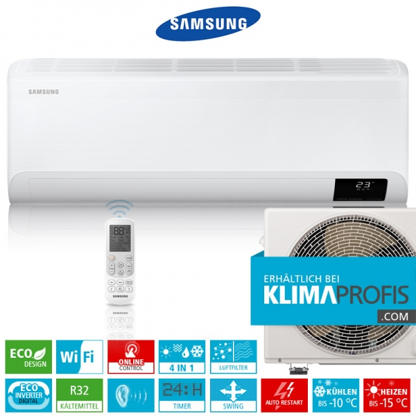 Samsung Cebu AR 12 ECO Digital Inverter R32 Wandklimageräte-Set - 4 kW
