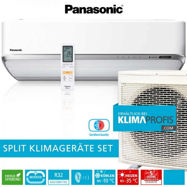 Panasonic Nordic CS-VZ12SKE R32 Inverter Plus Klimageräte-Set - 4 kW