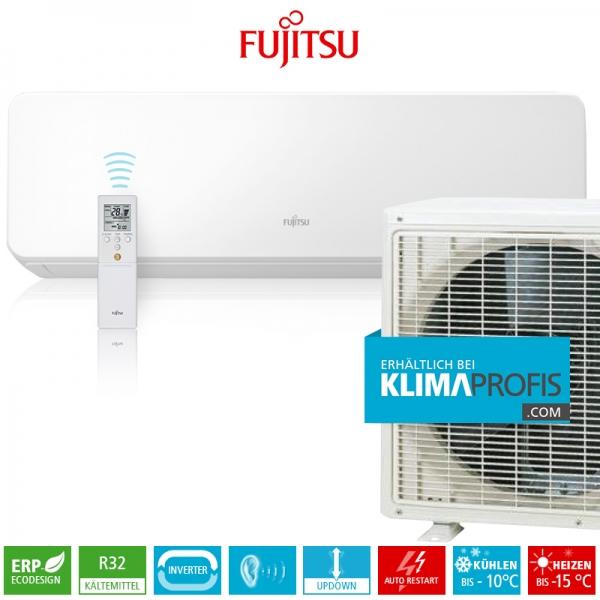 Fujitsu ASYG12KGTB R32 Inverter Design Wandklimageräte Set - 4,1 kW