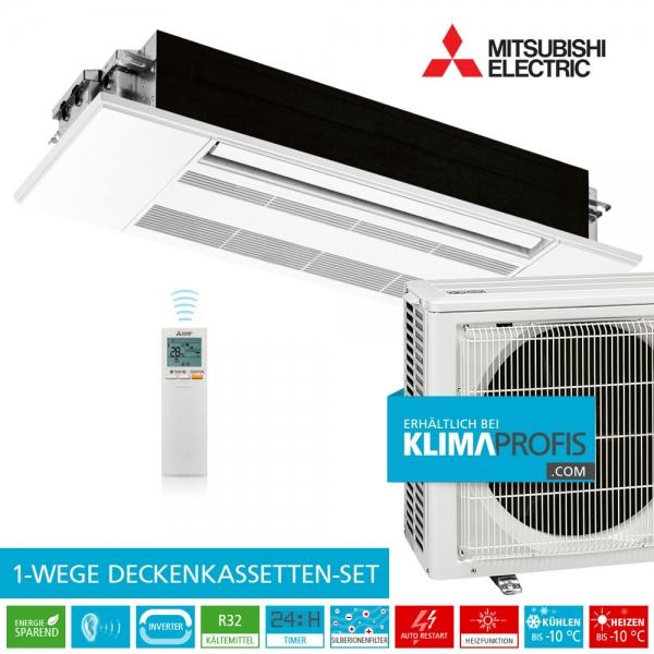 Mitsubishi MLZ-KP25VF R32 1-Wege-Deckenkassette Inverter Set - 3,2 kW