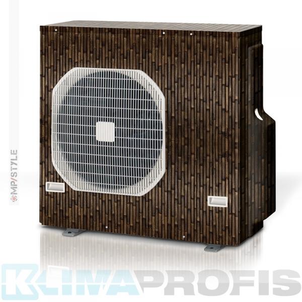 MP-Style - Dekorfolie black Bambus, KSF003 für Außengerät, selbstklebend, laminiert mit UV-Schutz