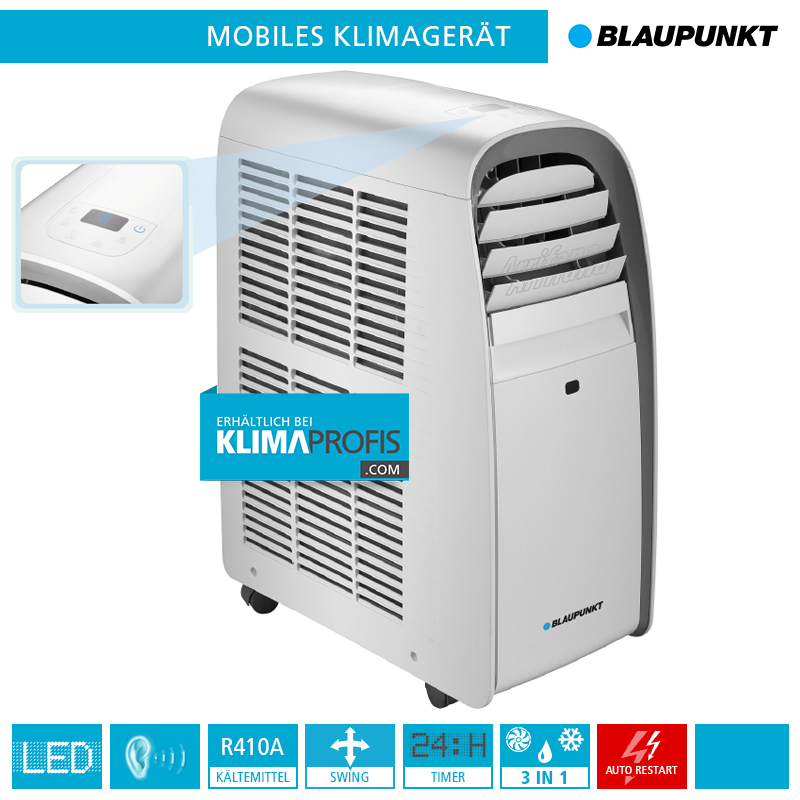 mobiles klimager t blaupunkt arrifana 08c 2 33 kw f r r ume bis 20 qm monoblock ger te. Black Bedroom Furniture Sets. Home Design Ideas