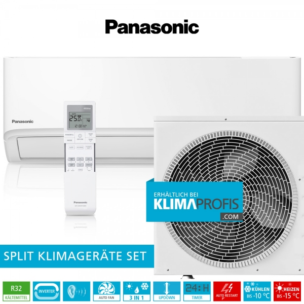 Panasonic CS-TZ50WKE R32 WiFi Standard Inverter Klimageräte-Set - 5,6 kW