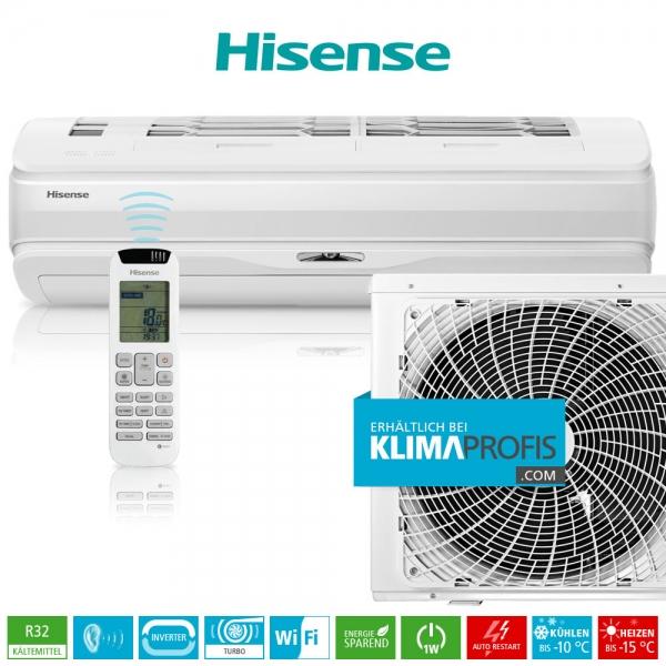 Hisense Silentium Pro QD25XU0AG R32 WiFi Inverter Wandklimagerät-Set - 4 kW