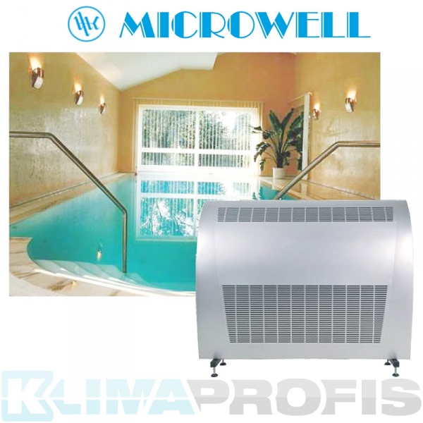 Schwimmbad Luftentfeuchter Microwell Dry 1200 metal - 120 l/24 Std.