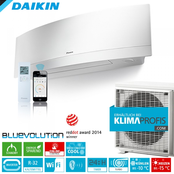 daikin emura ftxj35mw r32 wifi inverter klimager te set 3 8 kw wandklimager te split. Black Bedroom Furniture Sets. Home Design Ideas