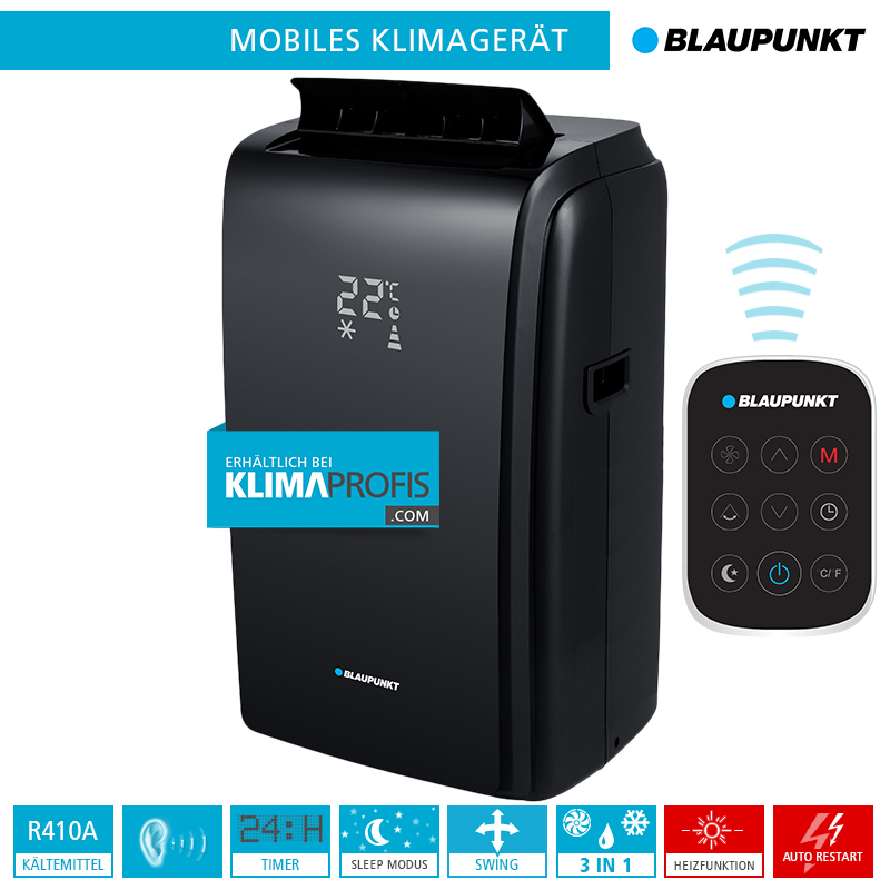 mobiles klimager t blaupunkt moby blue 1012b 3 5 kw black limited edition monoblock ger te. Black Bedroom Furniture Sets. Home Design Ideas
