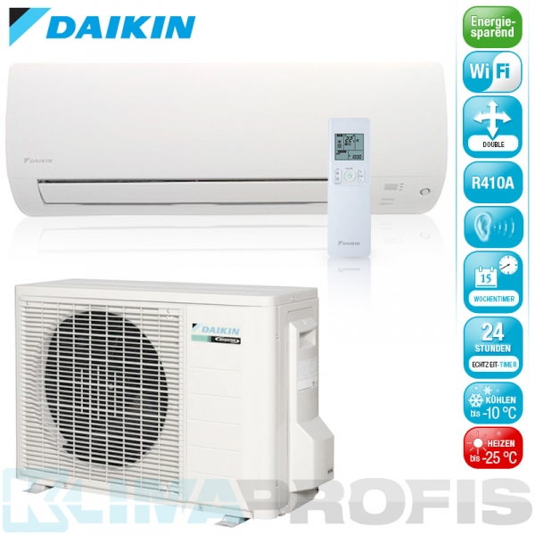 daikin ftxls35k wifi nordic inverter wand klimager te set 5 kw luft luft w rmepumpen. Black Bedroom Furniture Sets. Home Design Ideas