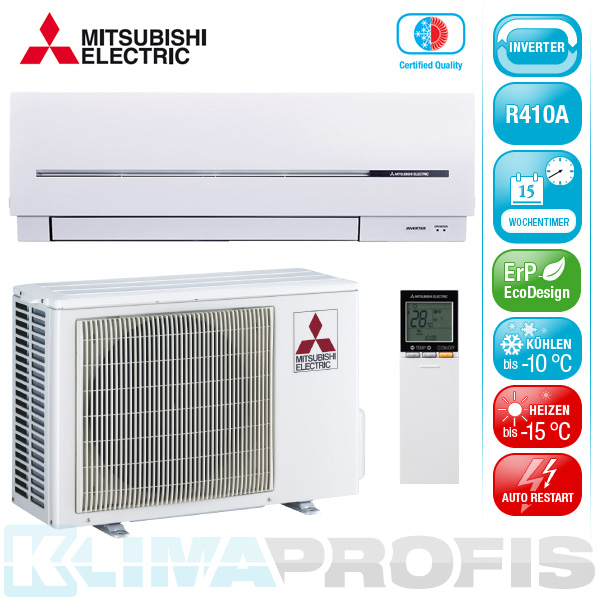 mitsubishi msz sf42venordic edition inverter klimager te set 4 5 kw luft luft w rmepumpen. Black Bedroom Furniture Sets. Home Design Ideas
