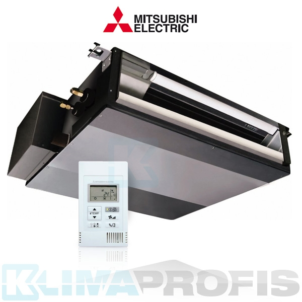 Mitsubishi SEZ-KD25VAQ Multi Split Inverter Kanaleinbauklimagerät - 3,2 kW inkl. Kabelfernbedienung