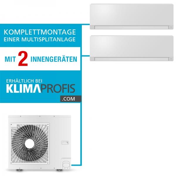 Montageservice einer Multisplit-Klimaanlage mit 2 Inneneinheiten